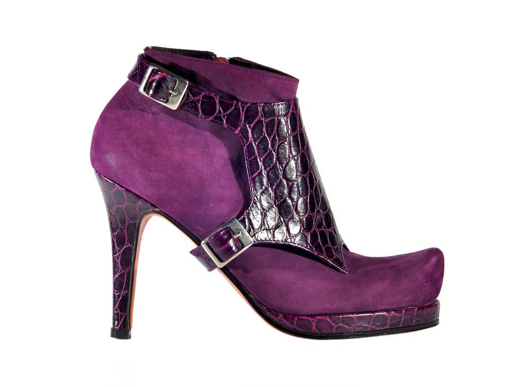 Ankle boot, handmade, custom made, high heel, real leather