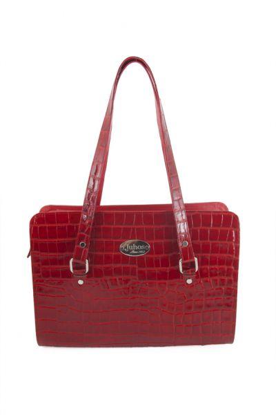 piros krokodil táska